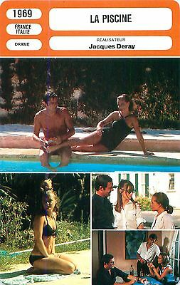 FICHE CINEMA FILM FRANCE-ITALY  LA PISCINE Alain Delon Réalisateur Jacques Deray