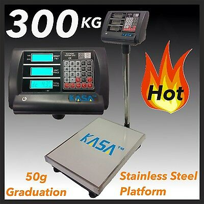 300KG  ELECTRONIC DIGITAL Computing PRICE SCALE Weight Shop Postal Industrial