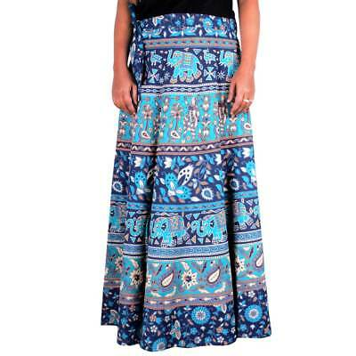 d2b28ddde5 INDIAN FLORAL RAPRON Printed Women Ethnic Cotton Long Skirt Wrap ...