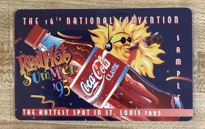 1995 Coca Cola Phone Card 16th National Sports Convention St. Louis