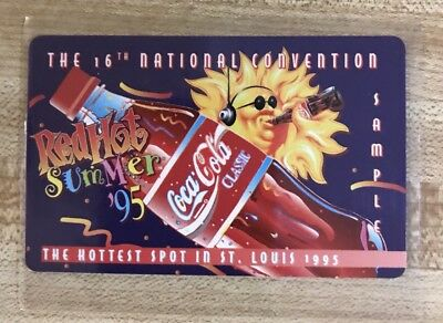 1995 Coca Cola Phone Card from 16th National Sports Convention St. Louis