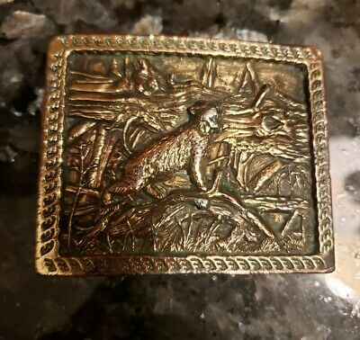 Adezy Denver Cast Brass Bob Cat Vintage 1977 Collectible Belt Buckle! Not Scrap