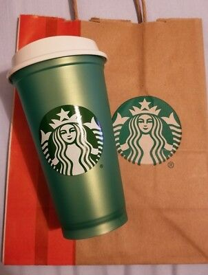 Starbucks Reusable Limited 16oz Cup! Green or White