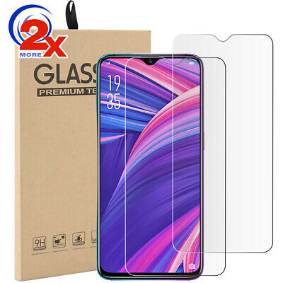 2x 9H Tempered Glass Screen Protector for Oppo R17 Pro /R15/AX7/AX5/A3S/A73/A57