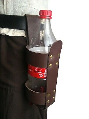 "LARP Leather Bottle Holder 1500ml ""Hangs from belt"""