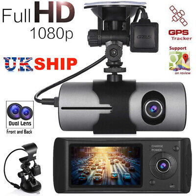 "2.5"" 1080P Dual Lens Car Dash Cam Front and Rear Camera Dashboard DVR Recorder"