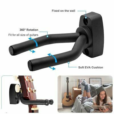 1 Pcs Guitar Hanger Hook Holder Wall Mount Stand Rack Bracket Display Guitar