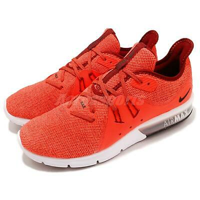 free shipping e0d4b a47ca Nike Air Max Sequent 3 III Total Crimson Men Running Shoes Sneakers  921694-600