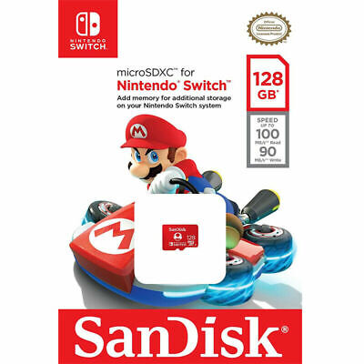Sandisk 128GB Micro SD Memory Card for Nintendo Switch TF microSDXC UHS-1 100MBs