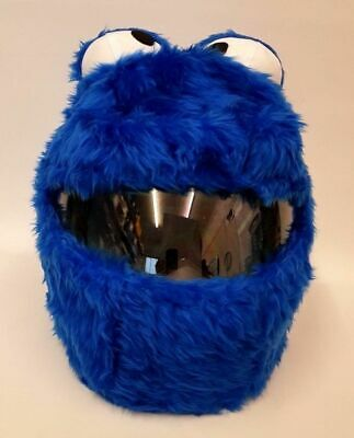Cookie Monster Funny Heeds Crazy Crash Helmet Cover