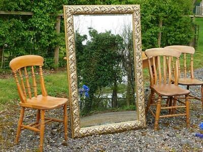A GOOD LARGE DRESSING, WALL OR OVERMANTLE MIRROR in the ANTIQUE MANNER