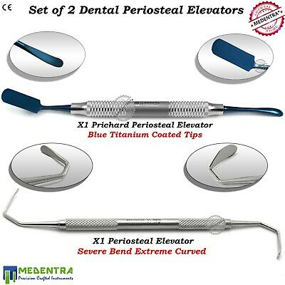 Implant Dental Periosteal Elevators Sinus Lift Elevation Extreme Curved Lab 2Pcs