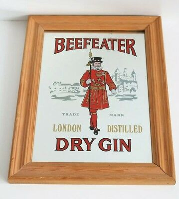 """Beefeater London Distilled Dry Gin - Vintage Mirror 10"""" x 13"""""""