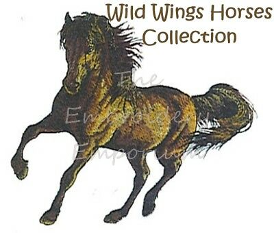 MACHINE EMBROIDERY DESIGNS ON CD OR USB BROTHER #25 HORSES DESIGNS
