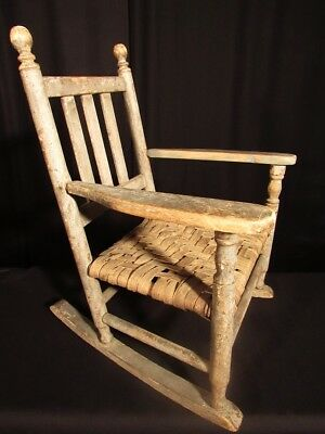 19th Century American 'Shaker' Child's Rocking Chair