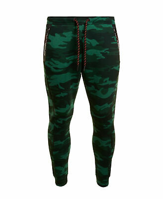 New Mens Superdry Gym Tech Stretch Joggers Forest Camo