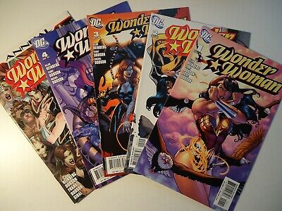 WONDER WOMAN 1, 2, 3, 4 + annual 1, DC Comics 2006-2007, complete story NM-