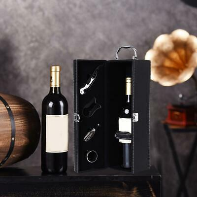 Portable Vintage Red Wine Box Leather Wine Storage Box Wine Bottle Case Gift