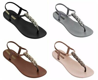 Ipanema Glam Nautical Knotted Rope Flip Flops T-Strap Summer Pool Beach Sandals
