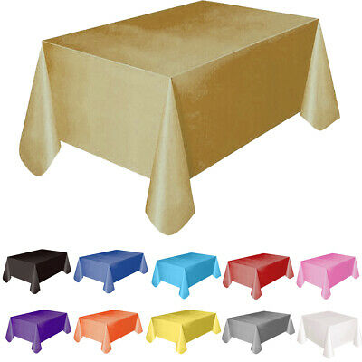 Rectange Plastic TABLECOVERS Table Cloth Cover Party Catering Events Tableware