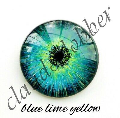 50mm Glass Eye Cabochon Hand Painted