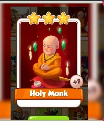 Coin Master Card Holy Monk fast delivery