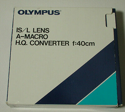 Olympus IS/L A-28 Wide-Angle (.8X) & A-Macro HQ Converter Lenses