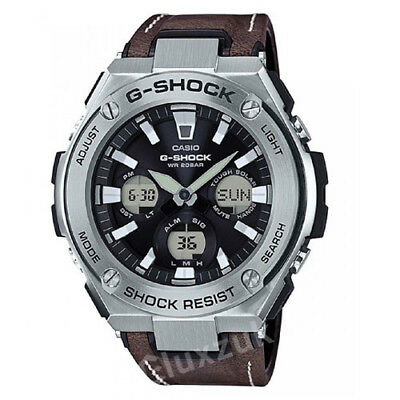 CASIO G SHOCK GST S130L 1A World Time Men's Watch New Brand  eKKtG