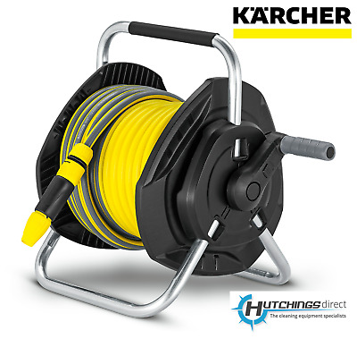 Karcher Hose Reel with 25m Flexible Garden hose Wall Mountable Portable