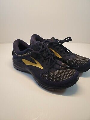 99c8ba43f8142 Brooks Men s Revel Running Shoe Navy Gold Black Sz 8.5 Medium 1102601D407