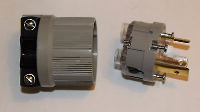Cooper / Arrow Hart 6332 Locking Plug. 30A-125V-2P-3W Grd Nema L5-30P. New.