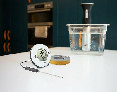 Digital DOT sous vide thermistor thermometer kit with needle probe & foam tape