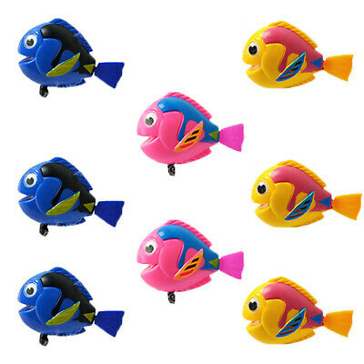 6x Wind Up Swimming Fish Kids Children Baby Bath Time Play Toys