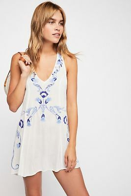 bbe5c0368fb4c NWT Free People Adelaide Festival Embroidered Slip Dress, Ivory, Size Small
