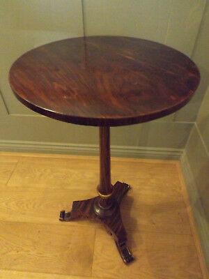 A Very Rare Regency Simulated Rosewood Wine Table Gilt Highlights