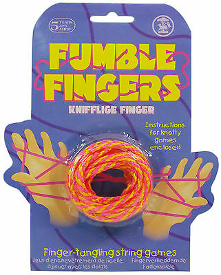 Fumble Fingers Cats Cradle Finger Tangling String Game Traditional Toy