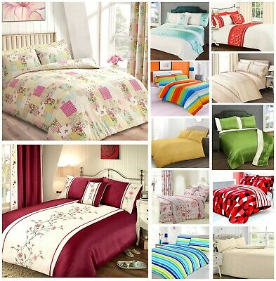 200 Thread Count Poly Cotton Duvet Cover Bedding Sets Luxury Printed Quilt Cover