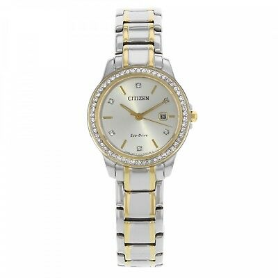 Citizen Eco-Drive Women's Crystal Accent Two-Tone Watch # FE1174-50A