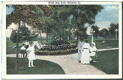 Ottumwa Iowa IA South Side Park 1916 Postcard White Border