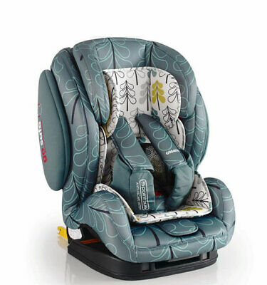 New Cosatto Hug group 123 anti escape isofix car seat in Fjord from 9 to 36kg