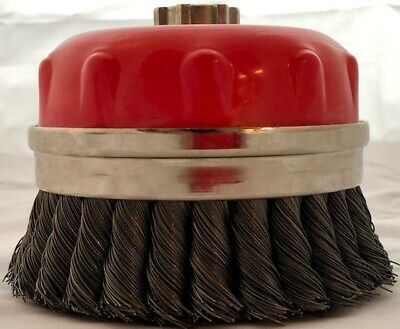 "Alfa Tools 5"" KNOTTED WIRE CUP BRUSH 5/8-11"
