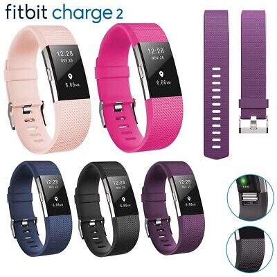 For Fitbit Charge 2 Strap Soft Silicone Band Wristband Watch Strap Replacement
