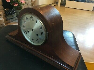 Antique Mantle Clock Case with bezel glass and face