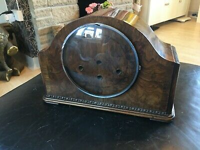 Antique Mantle Clock Case with bezel and glass