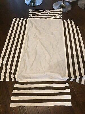 Brown And White Stripe Crib Skirt