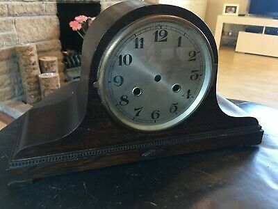 Antique Mantle Clock Case with bezel glass and dial