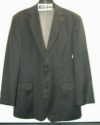 HUGO BOSS $345 NWOT Size 40R Modern Fit Dark Grey Solid Suit #6334-A1*