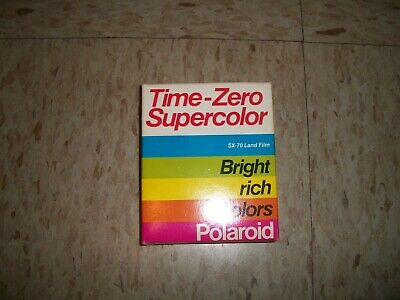 Polaroid Time-Zero Supercolor SX-70 Land Film 10 Photo Pack Exp 1988