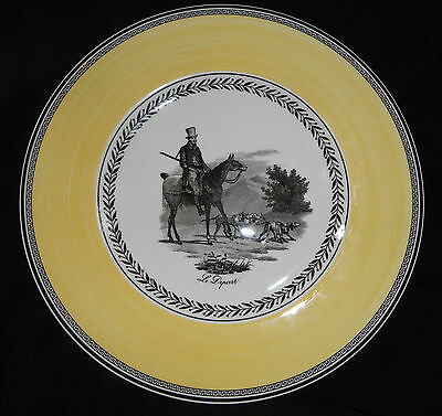 "Beautiful Villeroy & Boch AUDUN CHASSE DINNER PLATE 10 3/4"" Gentleman Horseback"