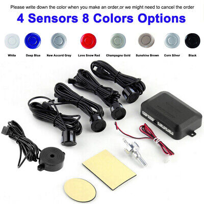 Car Parking Sensor 4 Sensors DC12V Backup 8 Colors Radar Detector System Kit